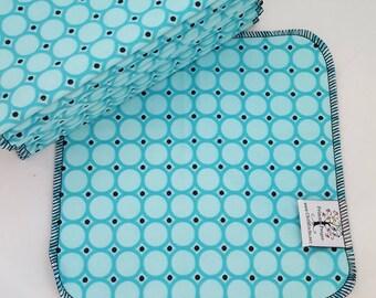 ECO CLOTH WIPES / Set of 12 / Geometric Cotton Cloth Wipes