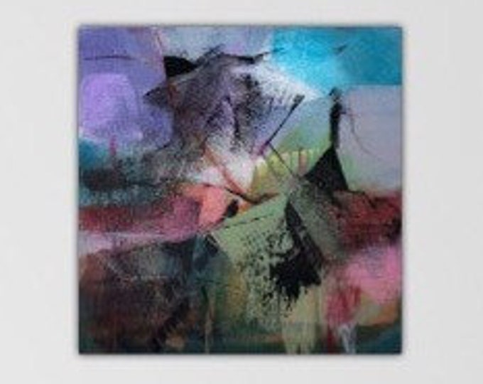Sight Line I.  Abstract Acrylic Original Art Modern Contemporary Painting. Peripheral Visions series.