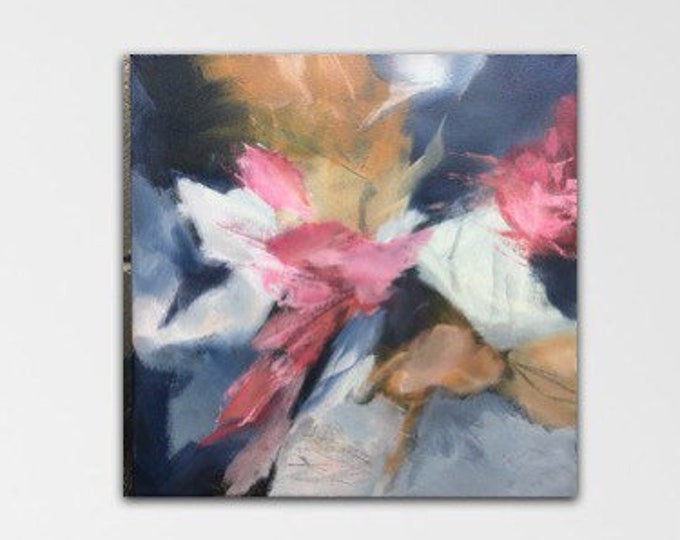 Flourish I. Acrylic Abstract Original Art Modern Contemporary Painting. Growing Wild series.