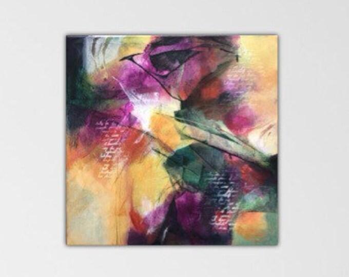 Hawkeye. Acrylic Abstract Original Art Modern Contemporary Painting. Peripheral Visions series.