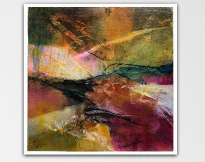 Pathfinder I. Acrylic Abstract Original Art Modern Contemporary Painting. Peripheral Visions series.