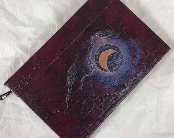 Handmade 6x4 Journal Refillable Wine Moon Original Traveller Notebook Fauxdori