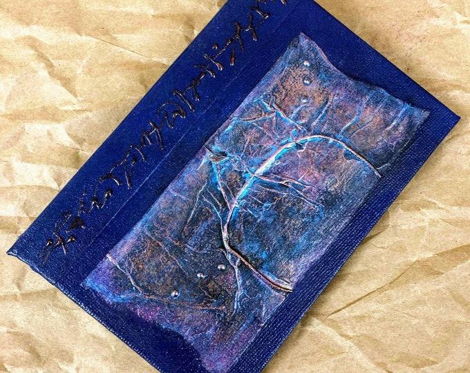 Handmade 6x4 Journal Refillable Indigo Texture Patch Original Traveller Notebook Fauxdori