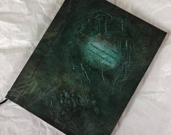 Handmade 9x7 Journal Refillable Green Rune Original Traveller Notebook Fauxdori
