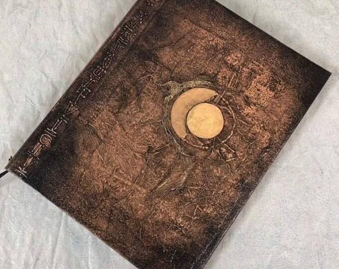 Handmade 9x7 Journal Refillable Bronze Black Eclipse Original Traveller Notebook Fauxdori