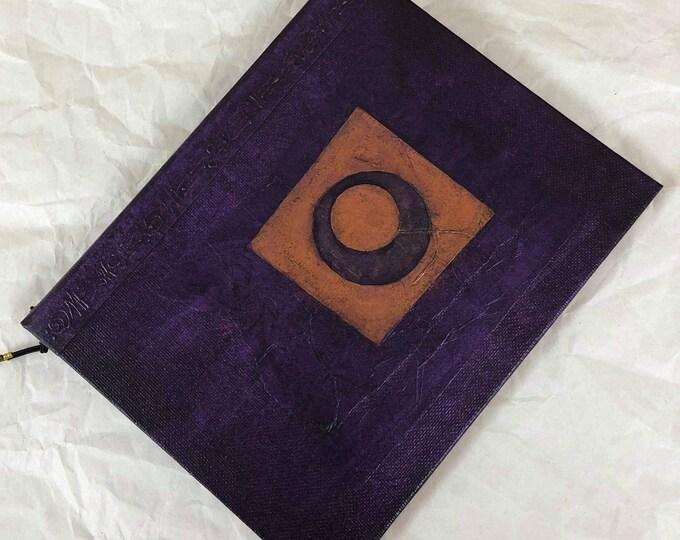 Handmade 9x7 Journal Refillable Violet Lunar Original Traveller Notebook Fauxdori