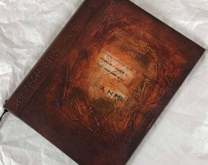 Handmade 9x7 Journal Refillable Brown Rune Original Traveller Notebook Fauxdori