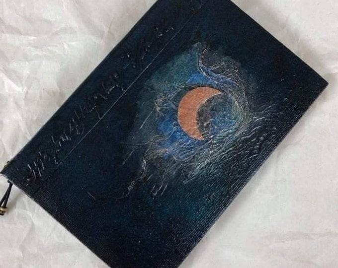 Handmade 6x4 Journal Refillable Dark Green Moon Original Traveller Notebook Fauxdori