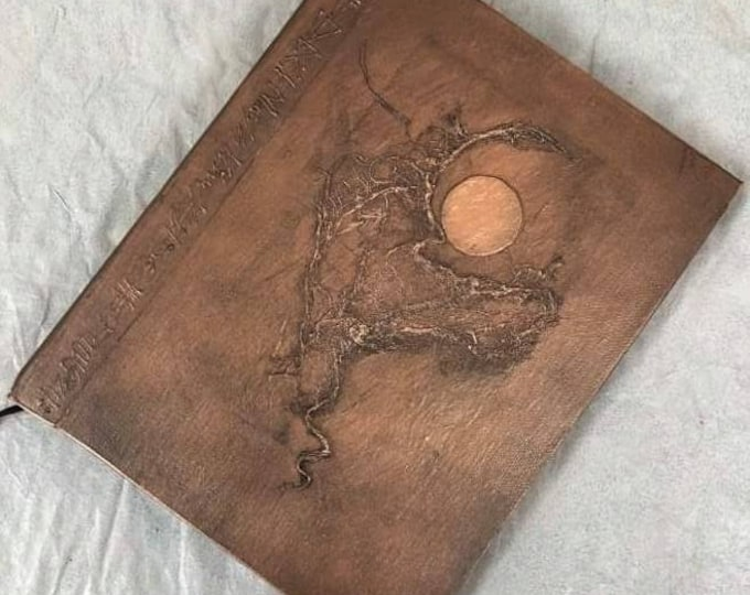 Handmade 9x7 Journal Refillable Bronze Moon Original Traveller Notebook Fauxdori