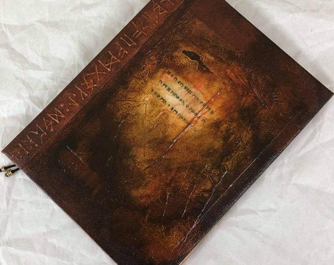 Handmade 8x6 Journal Refillable Brown Rust Rune Fauxdori Travellers Notebook Original