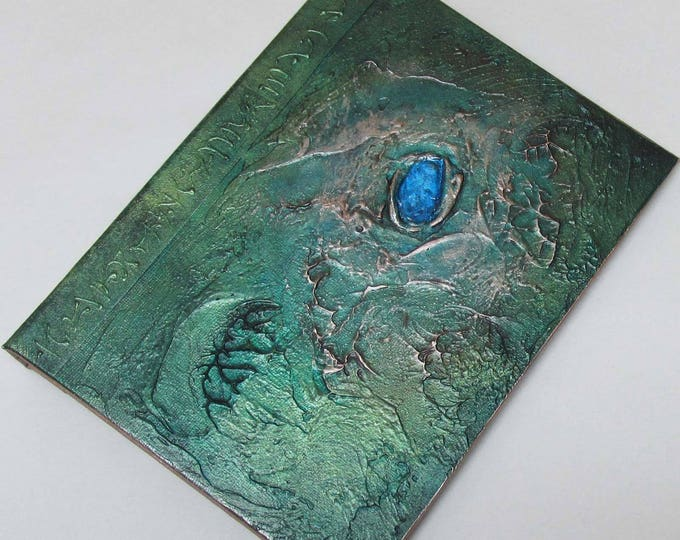 Handmade 8x6 Refillable Journal Distressed Green Sea Jewel textured Original travellers notebook hardcover fauxdori