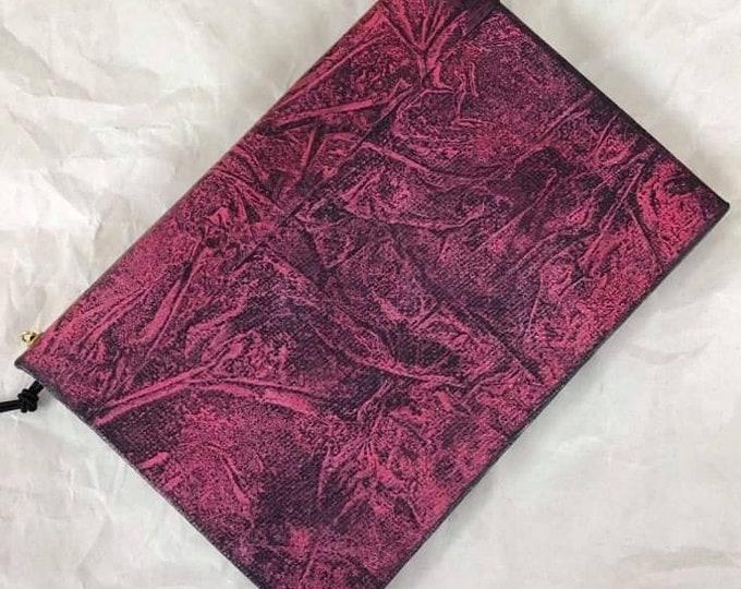 Handmade 6x4 Journal Refillable Distressed Pink Black frost Original Traveller Notebook Fauxdori