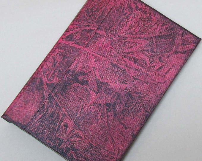 Refillable Journal Handmade Distressed Pink Black frost Original 6x4 traveller notebook fauxdori