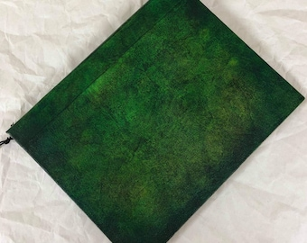 Handmade 9x7 Journal Refillable Green Distressed Original Traveller Notebook Fauxdori