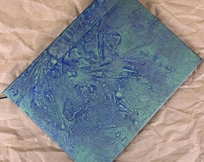 Handmade Refillable 8x6 Journal Distressed Green Blue Original traveller notebook fauxdori