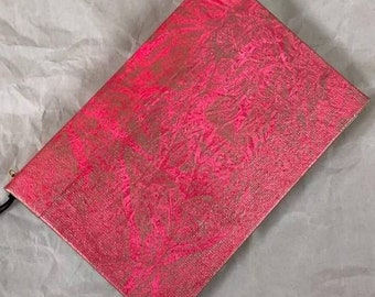 Handmade 6x4 Journal Refillable Distressed Pink Gold Frost Original Traveller Notebook Fauxdori