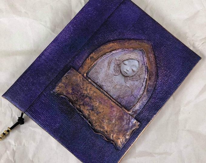 Handmade 5x4 Journal Refillable Violet Shrine Original Traveller Notebook Fauxdori