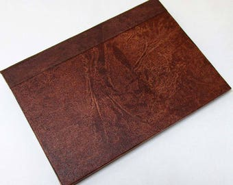 Handmade Refillable Journal Distressed Brown 7x5 Original travellers notebook hardcover fauxdori