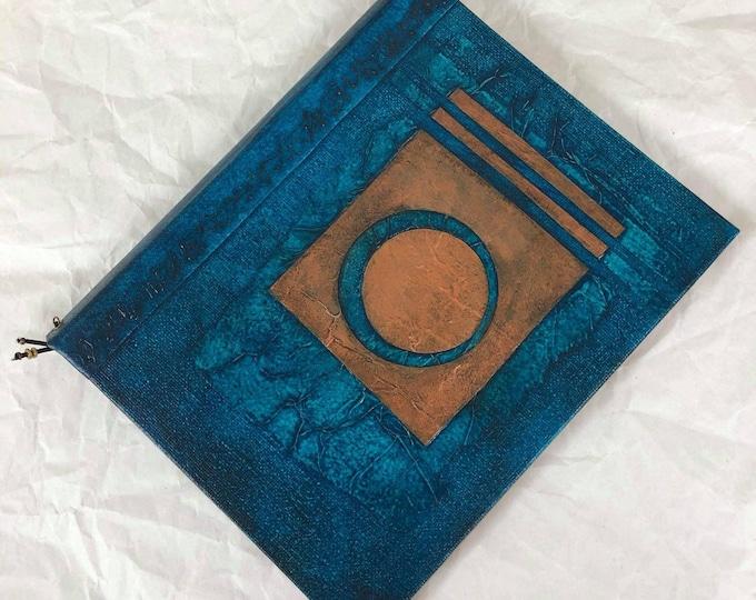 Handmade 9x7 Journal Refillable Turquoise Deep Lunar Original Traveller Notebook Fauxdori