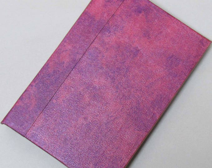 Refillable Journal Handmade Distressed Pink purple Original 6x4 traveller notebook