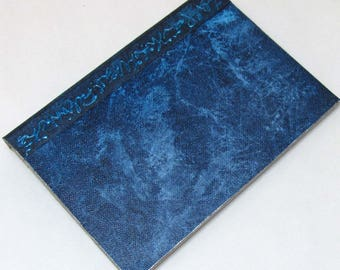 Handmade Refillable Journal Distressed Blue 7x5 Original travellers notebook hardcover fauxdori
