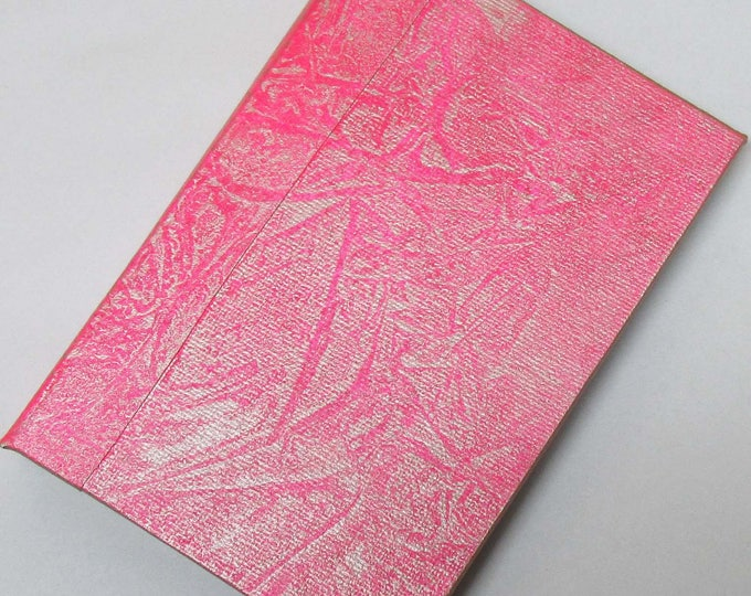 Refillable Journal Handmade Distressed Pink gold Original 6x4 traveller notebook fauxdori
