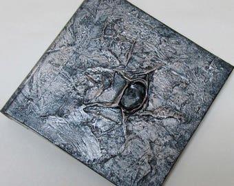 Handmade Refillable Journal Silver jewel Texture 6x6 Original travellers notebook hardcover fauxdori