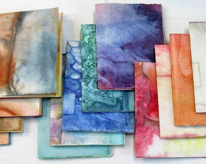 Junk journal Collage Paper pack Mini Notebook Wabi Sabi Purse Size Jotter smash scrap journal- Random Selection
