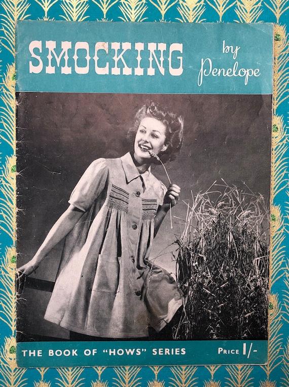Vintage 1940/'s Smocking by Penelope Instruction Pattern Booklet Magazine
