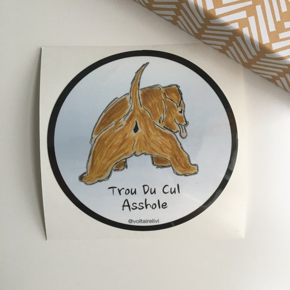 Engels Frans Kont Lul Gat Sticker Sticker