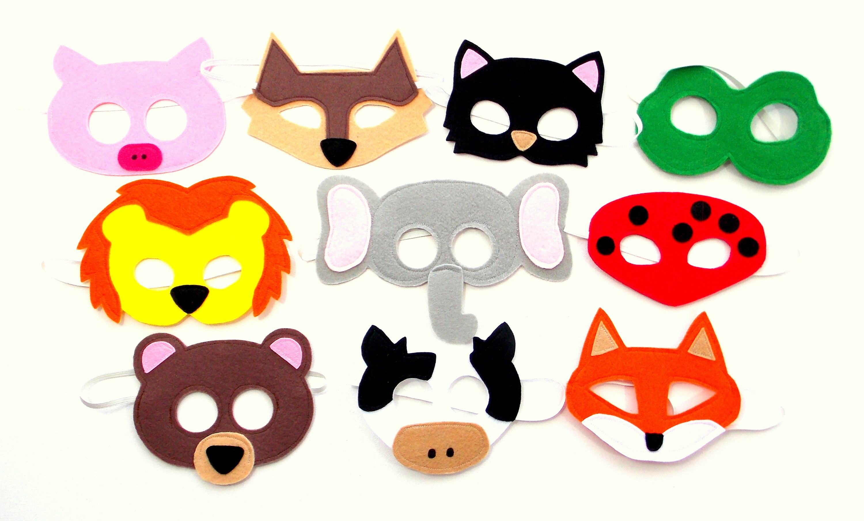 Animal Mix 10 Masks Party Pack Kids Mask Etsy 50