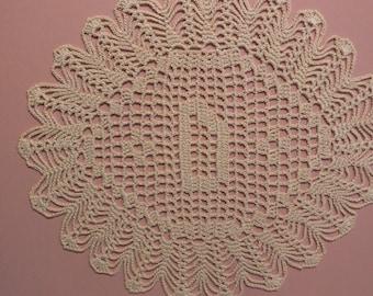 "Custom Handmade Crocheted Initial Doily  ""D"""