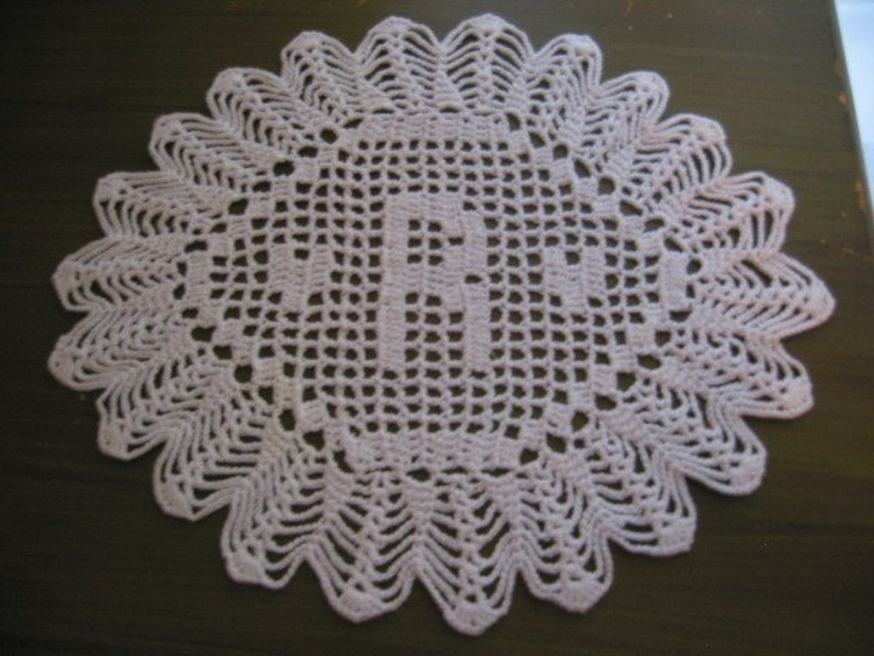 Custom Crocheted Initial Doilies R image 0