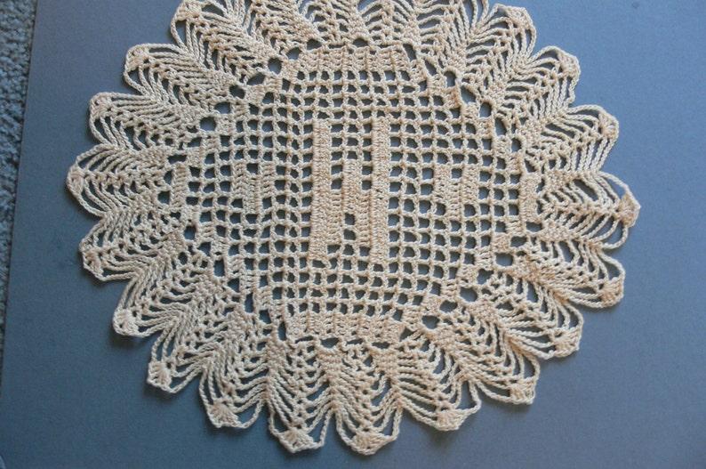 Custom Crocheted Initial Doilies W image 0