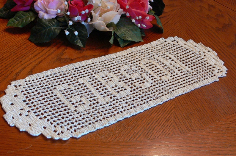 Special Custom Handmade Crocheted Name Doilies  Crochet Name image 0