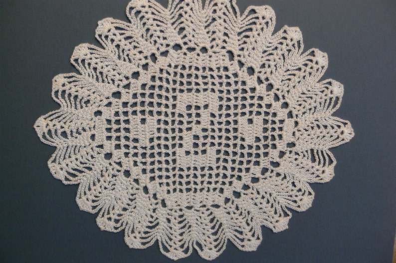 Custom Crocheted Initial Doily  Z image 0