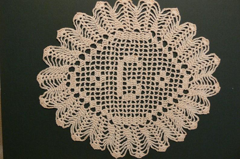 Custom Handmade Crocheted Initial Doily G image 0