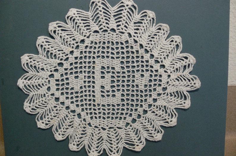 Custom Handmade Crocheted Initial Doily  E image 0