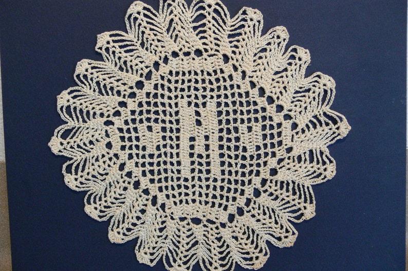 Custom Crocheted Initial Doilies M image 0