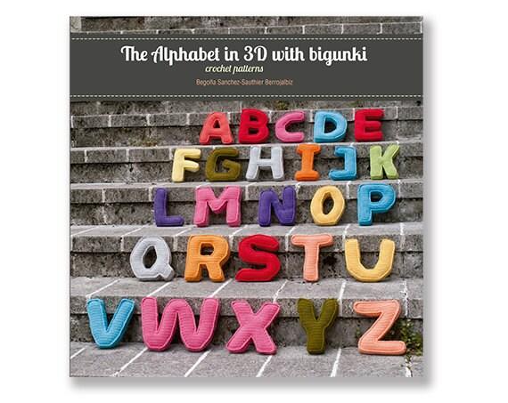 Häkeln Sie Muster Papier Buch The Alphabet in 3D mit Bigunki