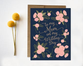 Mother of bride card etsy wedding day card to my mom on my wedding day mom thank you card mother of the bride mother of the groom mom wedding day card m4hsunfo
