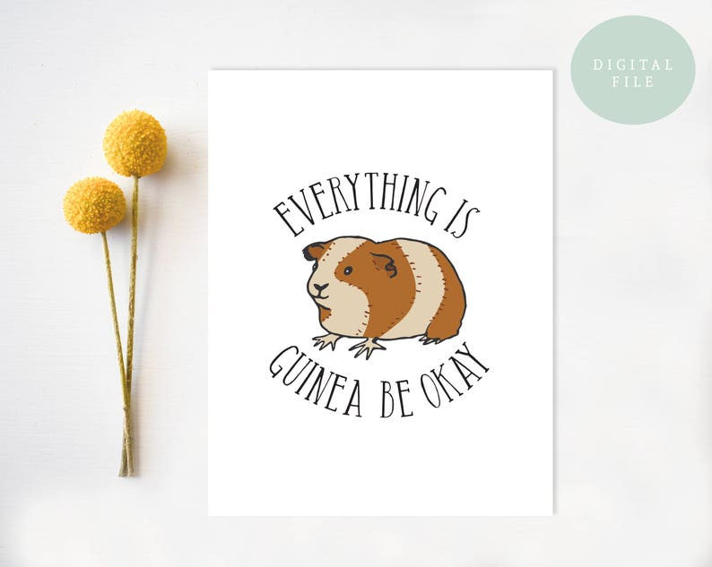 picture relating to Printable Sympathy Card identify PRINTABLE Sympathy Card, Asking yourself of by yourself, Reduction, Im Sorry, Get hold of effectively before long, Guinea Pig, Lighthearted Sympathy Card, All the things is guinea be okay
