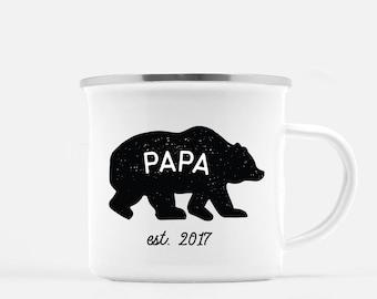 Papa Bear Mug, Dad Mug, Baby Announcement, Pregnancy Mug, Fathers Day Mug, Papa Bear, Established, Gift for Dad, New Dad Gift, New Dad Mug