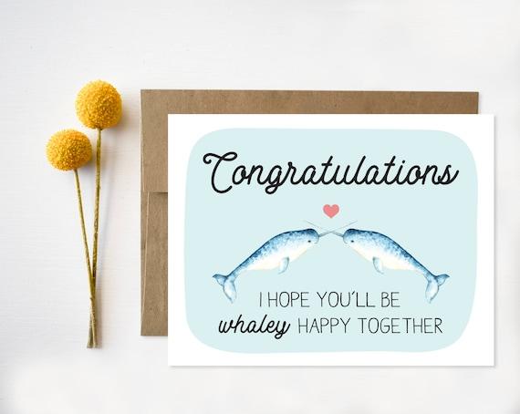 Wedding Congratulations Card Funny Wedding Card Etsy