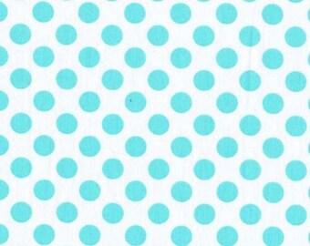 Ta Dot Polka Dots Aqua Michael Miller Fabric