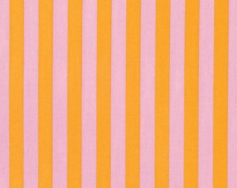 Remnant end of bolt 32 inches Tula Pink Fabric Tabby Road Tent Stripe Marmalade Skies