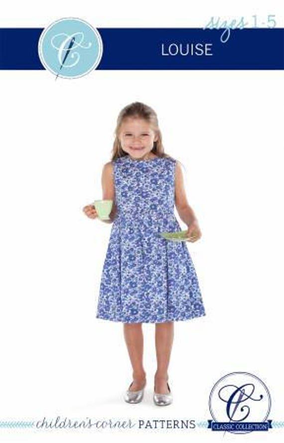Children\'s Corner Sewing Pattern Louise Dress Sizes 1-5 | Etsy