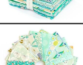 Curated Bundle Emerald Spark, 20 fat quarter bundle Art Gallery Fabric