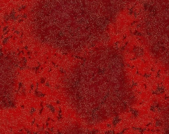 Michael Miller Fabric Fairy Frost Cotton with Metallic in color Hollyberry, Choose your cut