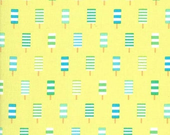 Ice Cream you Scream, So Cool in color Lime Michael Miller Fabric, Choose your cut